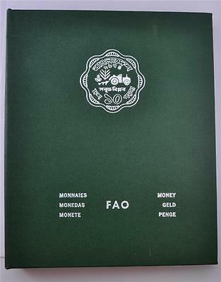 Fao 1974 Green Coin Album Set With Only First Two Pages Full