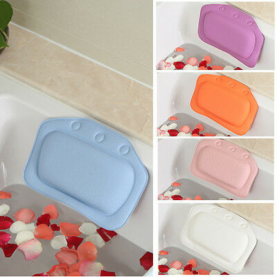 4Colors Relaxing Cushioned Bath Spa Pillow Head Neck Rest Bathtub Pillow SY