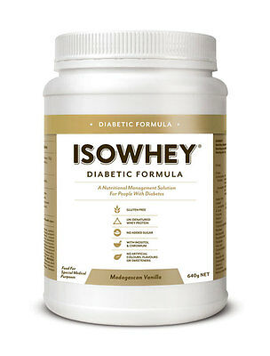 New 640g IsoWhey Protein Powder Diabetic Formula Madagascan Low Allergenic