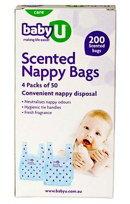 Baby U Scented Nappy Bags X 200
