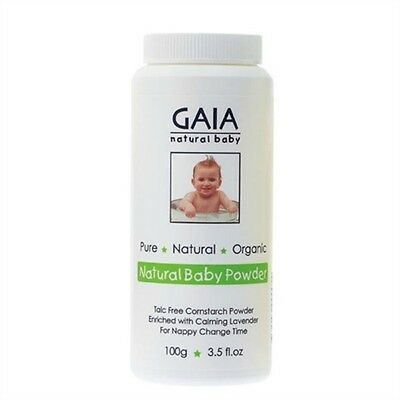 New 100g Pure Natural Organic Gaia Natural Baby Powder Nappy Change w/ Lavender