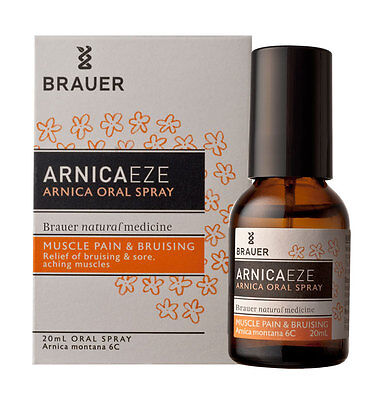 New 20ml Brauer Arnica Oral Spray Montana 6C Muscle Pain & Bruises Solution