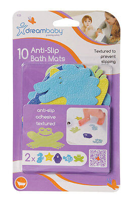 New 12pc Dream Baby Non-Slip Bath Appliques Adhesive Mats Textured Kid Safety
