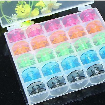 25pcs Colorful Plastic Bobbin Home Sewing Machine Accessories Useful Tool New DD