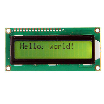 Yellow backlight LCD 1602 16x2 Characters HD44780 LCD display for Arduino