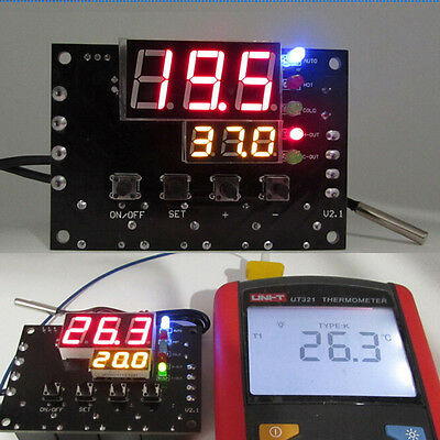 DC 12V TEC Semiconductor Cooler LED Thermostat Automatic Temperature Controller