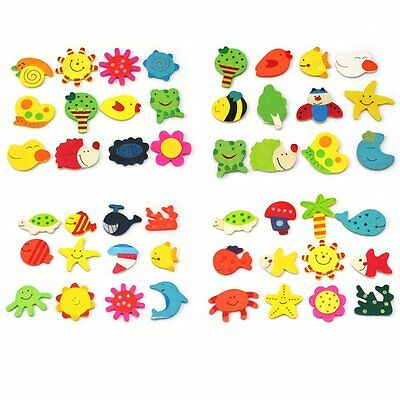 24 x New Wood Refrigerator Refrigerator Magnets Educational Toy for Baby Boy PK