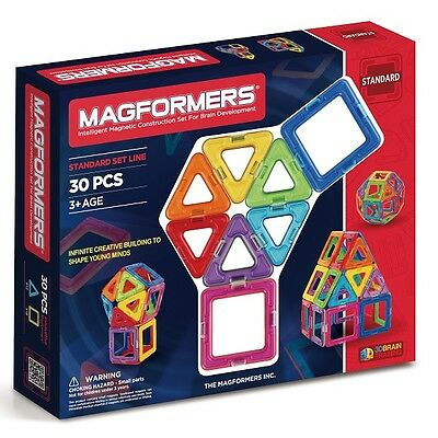 Genuine MAGFORMERS - Magnetic Construction Set - 30 Pcs - Educational Toy