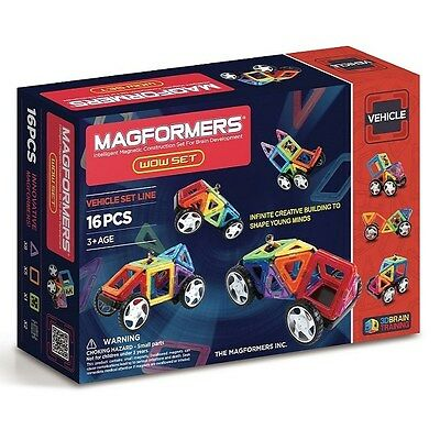 Genuine MAGFORMERS - Magnetic Construction Set - Vehicle WOW set