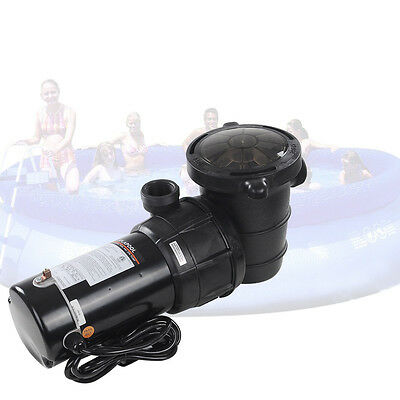 1.5 HP Swimming Pool Spa Water Pump 115 Volt Outdoor Above Ground Strainer Motor