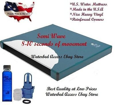 Queen Size Semi Wave Waterbed Mattress with Fill Kit & 4oz Water Conditioner