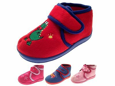 Childrens Slipper Boots Toddlers Indoor Shoes Boys Girls Xmas Gift Kids Size