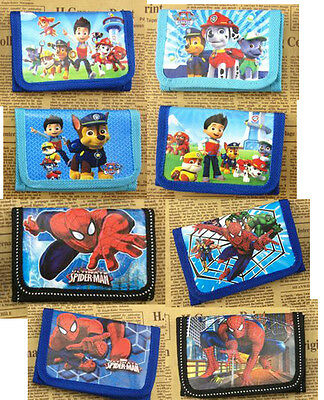 Paw Patrol Spider-man Frozen Kids Coin Money Pouch Bag Purse Wallet Xmas gift