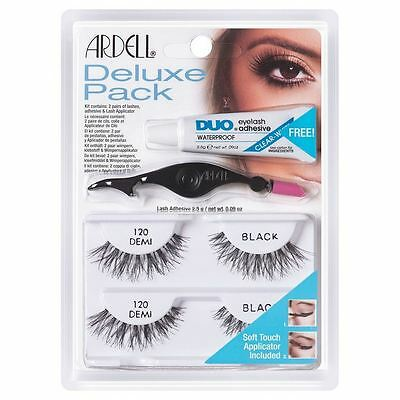 Ardell Deluxe Pack Eyelashes With Adhesive And Applicator 110, 120