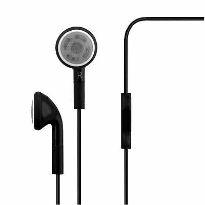 Lot of 44 Black Stereo Earphone Earbud with Mic For Apple Phone Samsung Phone