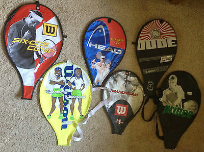wilson head tecno Prince tennis racket covers pictured printed uk seller