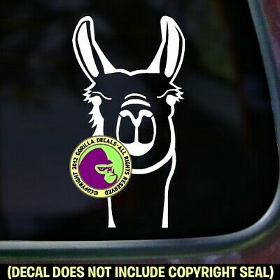 Llama Vinyl Decal Sticker Face Llamas Love Pack Wall Sign Car Window Trailer