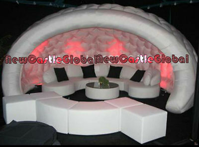 16 ft portable  party led lighting oxford igloo inflatable bar tent with blower