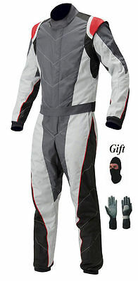 New Black & Gray Go Kart Race Suit Pack With Free Gift