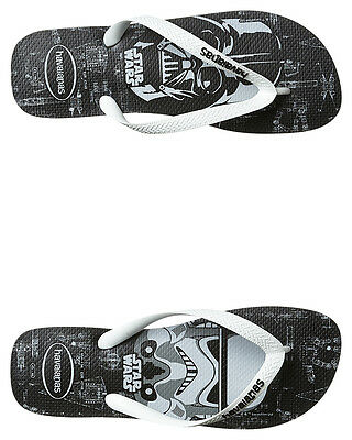 New Havaianas Men's Top Prints Star Wars Thong Rubber Mens Shoes Black