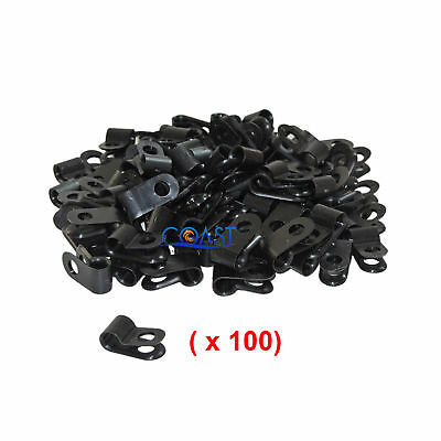 """Secure Screw-on Wire Electrical Plastic Cable Clamp Plug 3/16"""" Black - 100 pcs"""