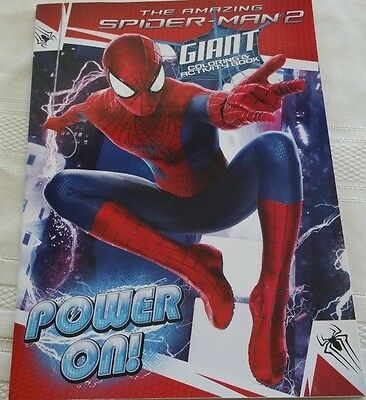 Set Of Two The Amazing Spider-Man 2 Giant Coloring And Activity Books
