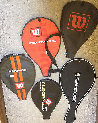 Wilson tennis squash racket covers hammer europa pro staff Jr ripper ncode uk