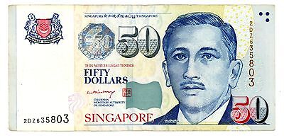 Singapore ... P-49a ... 50 Dollars ... ND(2008) ... *VF*