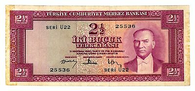 Turkey ... P-152 ... 2 1/2 Lirasi ... L.1930 ... *VF(*)*