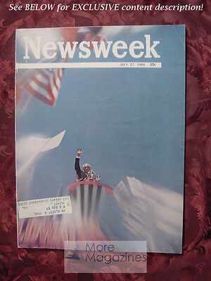 NEWSWEEK July Jul 27 1964 64 BARRY GOLDWATER NOMINATED
