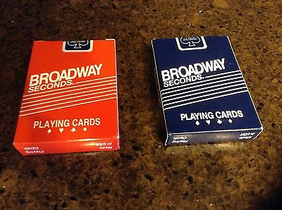 Aristocrats Broadway Seconds playing cards 1 red and 1 blue deck Cincinnati made
