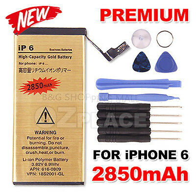 For Apple iPhone 6 High Capacity Internal Replacement Battery Tools Kit 2850mah