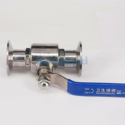 """1"""" 25mm 304 SS Sanitary Ball Valve Tri Clamp Ferrule Type For Diary Product"""