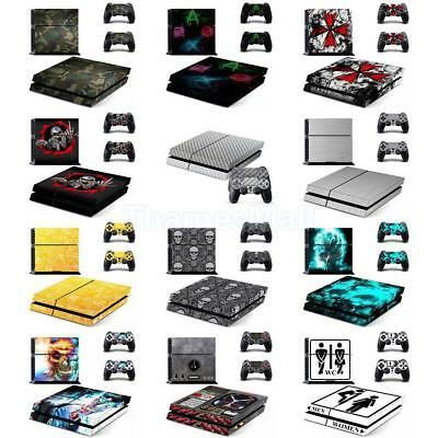 Various Skin Sticker For Sony PS4 Playstation 4 Console & 2 Controller Decal Set