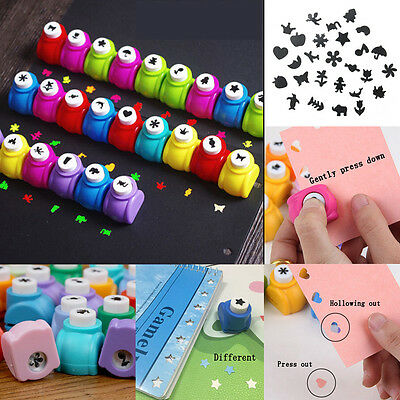 Mini Scrapbook Punches Handmade Cutter Printing DIY Paper Hole Puncher Random