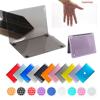 Glossy Clear Shell Case+Keyboard Cover for MacBook Air 11 Pro 13 Retina 13/15 12