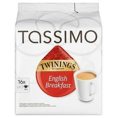 TASSIMO Twinings English Breakfast Tea Refill T-Discs Pods Pack of 5, 80 Drinks