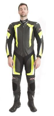RST R-16 Leather 1 piece Motorbike Race suit 1067 Yellow Size 46