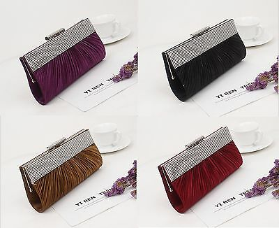 Crystal Fashion Bridal Evening Handbag Clutch Bag Party Wedding Party Pageant