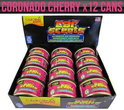 6x CHERRY CALIFORNIA CAR SCENTS CHERRY AIR FRESHENER HOME OFFICE VAN LONG LAST