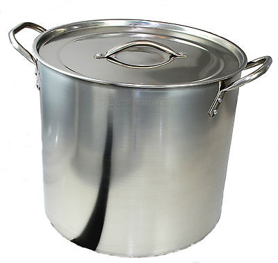 Stainless Steel Deep StockPot / Boiling/ Cooking/ Camping/ Soup/ Stew / Brew 19L