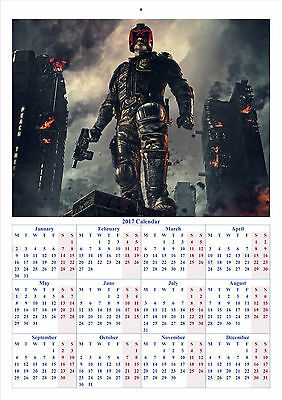 Dredd - 2017 A4 CALENDAR **BUY ANY 1 AND GET 1 FREE OFFER**