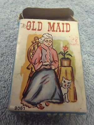 Vintage Mini Old Maid Paper Playing Cards From Hong Kong
