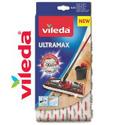 New Vileda Mop Ultramax Ultramat 1 2 Spray Replacement Refill Microfibre