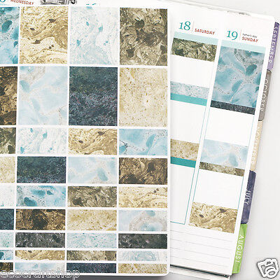 FULL BOX WASHI GEODES STONE ROCK ABSTRACT PRINT Erin Planner Condren Sticker P14
