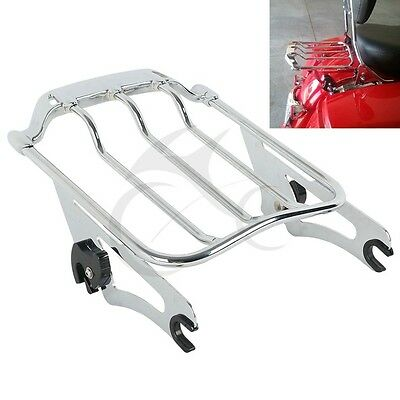 Chrome 2 Up Air Wing Luggage Rack Fit For Harley Street Road Glide FLTR 2009-19