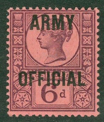 SG 045 6d purple/rose red. Army Official. A fine unmounted mint example CAT £110