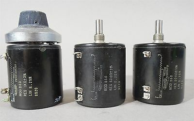 Spectrol Precision Potentiometer Mod 860 Asst.- Used - Lot of 3