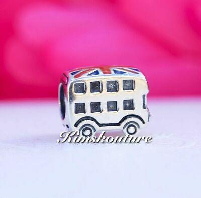 Authentic Pandora Sterling Silver Enamel London Bus Bead 791049ER