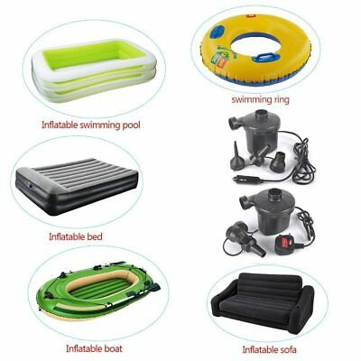 New 12V DC 240V AC Electric Air Pump For Airbed Camping Bed Boat Toy Inflator UK
